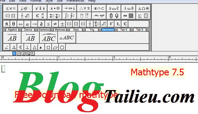 Cách xác định và sử dụng phím tắt trong MathType