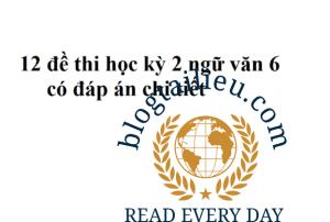 12 đề thi học kỳ 2 ngữ văn 6 có đáp án
