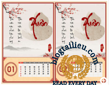 Cách tạo lịch thư pháp năm mới Tân Sửu 2021