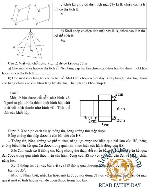Mẫu Kế hoạch bài dạy Mô đun 3 môn Toán THPT