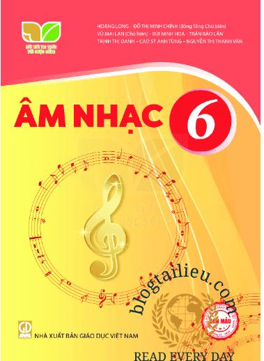 Sách giáo khoa mới lớp 6 Môn Âm nhạc