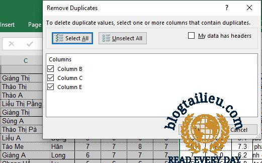 5 cách lọc dữ liệu trùng nhau trong Excel - Giáo viên 4.0