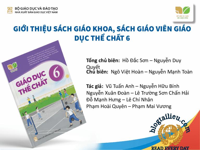SGK, SBT, SGV Môn Giáo dục thể chất 6 kết nối tri thức và cuộc sống