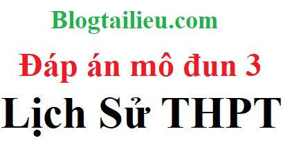 Đáp án, hướng dẫn học tập môn lịch sử modul 3 thpt