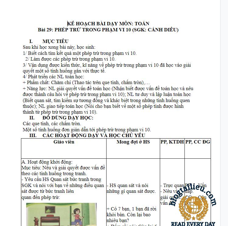 [kế hoạch cuối khóa] modun 3 toán tiểu học lớp 2
