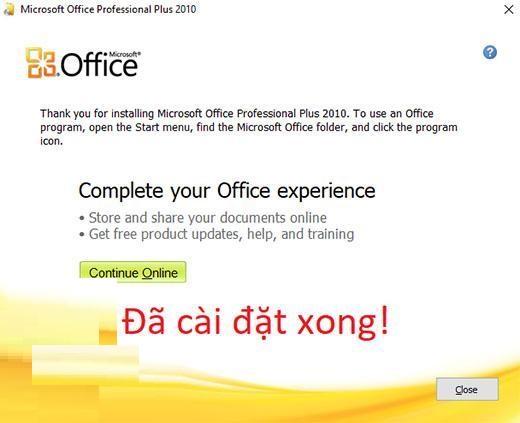 Download Office 2010 Full key – Hướng dẫn cài đặt vĩnh viễn