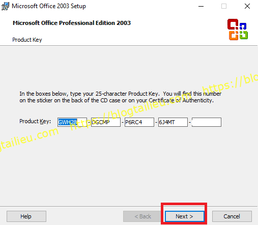 Download Office 2003 full key active miễn phí