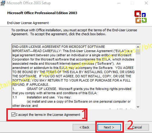 Hướng dẫn cài đặt Office 2003 miễn phí