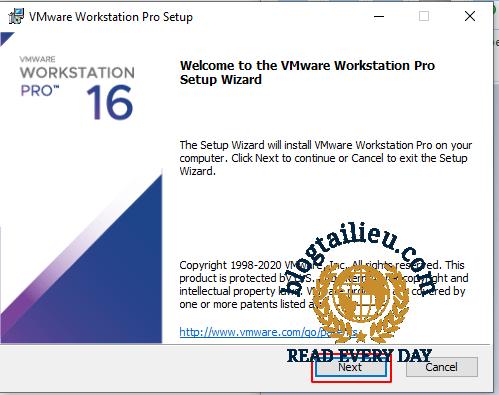 Hướng dẫn cài đặt phần mềm Vmware 16